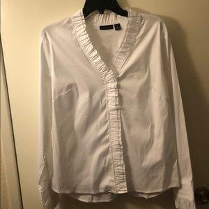 White work blouse. Brand new!!